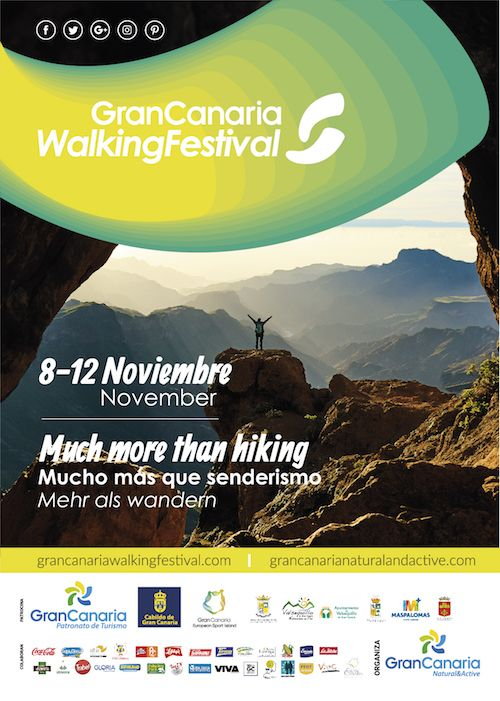Póster Gran Canaria Walking Festival 2017