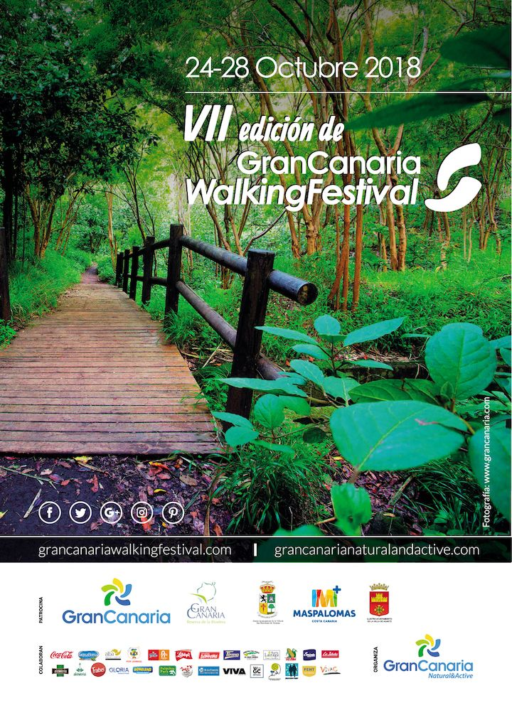 Póster Gran Canaria Walking Festival 2018